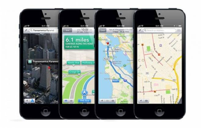App de mapas da Apple